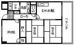 エクセル赤松[7階]の間取り