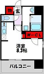 西鉄天神大牟田線 高宮駅 徒歩21分の賃貸マンション 11階1Kの間取り