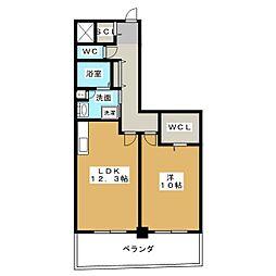 N apartment[8階]の間取り