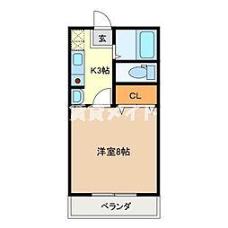 イーグルプレイス[1階]の間取り