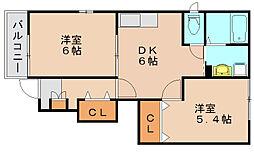 エレガントガーデン[1階]の間取り