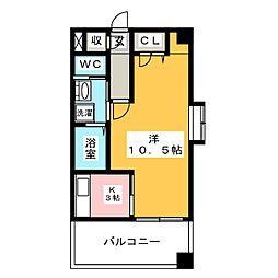 セレーノ高宮[3階]の間取り