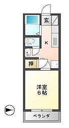 岐阜県関市平賀町4丁目の賃貸マンションの間取り