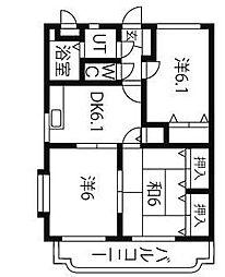 ユーミーJUKOH[2階]の間取り