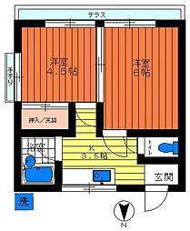 川島荘[101号号室]の間取り