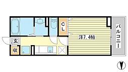 セイバリーハウス・ヤマト[203号室]の間取り