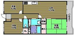 藤和さやまハイタウンA棟[13階]の間取り