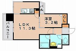 ビエネスタ千代県庁口[13階]の間取り