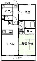 埼玉県さいたま市北区大成町4丁目の賃貸マンションの間取り