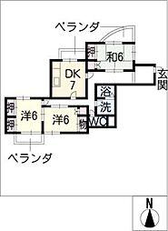 Mハイツ佐藤[4階]の間取り