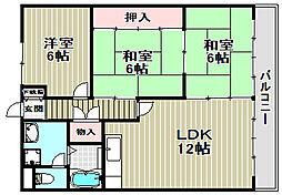 第1タツミマンション[3階]の間取り