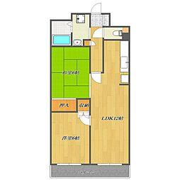 Fifth Arai Place[4階]の間取り