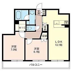 アムールサージュ[2階]の間取り
