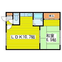 北海道札幌市東区北十八条東10丁目の賃貸アパートの間取り