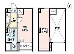 サクシード長洲東[2階]の間取り