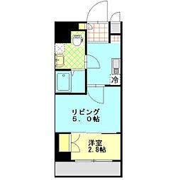 アクシーズタワー大宮桜木町[102号室]の間取り