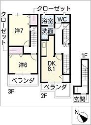 ヴィオラ21[3階]の間取り