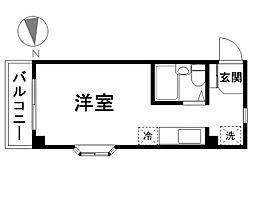 第5荒井マンション[201号室]の間取り