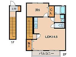 ディアコート・I[2階]の間取り