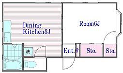 西ヶ丘荘[2階]の間取り