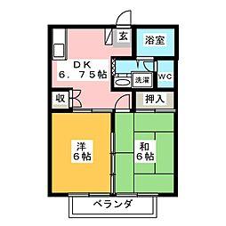 コートハウス大谷II[1階]の間取り
