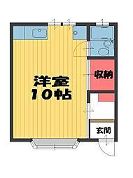 川島邸貸室[101号室]の間取り