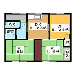 [一戸建] 岐阜県各務原市鵜沼三ツ池町2丁目 の賃貸【/】の間取り