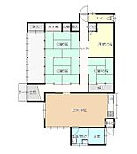 リフォーム後間取り図DKと隣の和室は繋げて約16畳の広々LDKに変更し、4LDKになる予定です。4.5畳の洋室も造作予定です。間取りががらっと変わり、家族が集まりやすいお家になりそうですね。