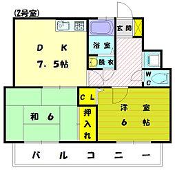 香ハイムP-2[1階]の間取り