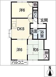 コーポイマーニ[2階]の間取り