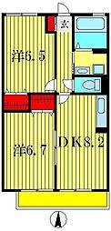 ハイム シンフォニアA[2階]の間取り