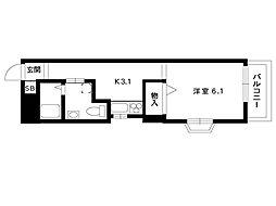 JR東海道本線 摂津本山駅 10階建[5階]の間取り