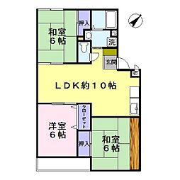 トリヴァンベール桜井[2階]の間取り