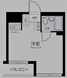 東京都中野区丸山2丁目の賃貸マンションの間取り