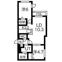REGOLITH N2[3階]の間取り