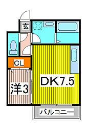 コーポボナール[2階]の間取り