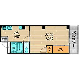 大阪府守口市京阪本通1丁目の賃貸マンションの間取り