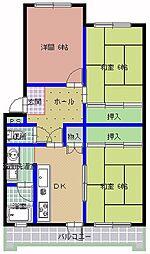桜下マンション[303号室]の間取り