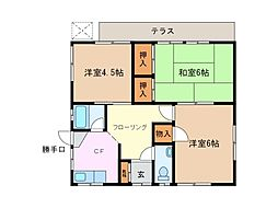 [一戸建] 三重県鈴鹿市十宮2丁目 の賃貸【/】の間取り