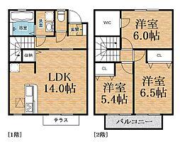 [テラスハウス] 千葉県千葉市中央区村田町 の賃貸【/】の間取り