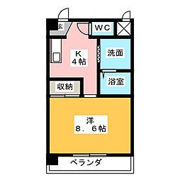 クラージュ21[3階]の間取り