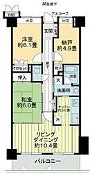 サーパス昭和町[902号室]の間取り