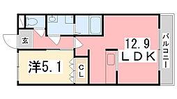 アクロポリスIII[1階]の間取り
