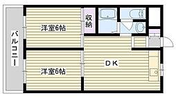菫橋ハイツ[501号室]の間取り