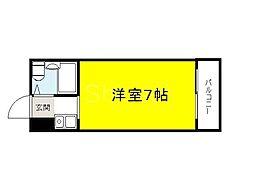 大阪府堺市堺区五月町の賃貸マンションの間取り