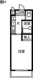 エクセランス御供所II[1階]の間取り