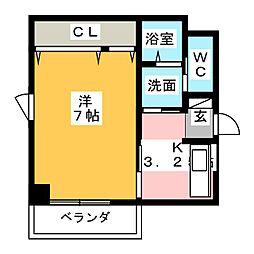 サムティ元浜RESIDENCE[2階]の間取り