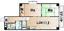 クレセント百花苑III[2階]の間取り
