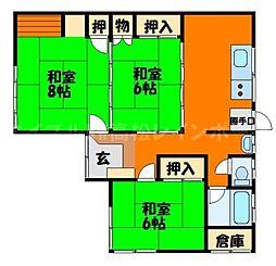 [一戸建] 香川県高松市田村町 の賃貸【/】の間取り