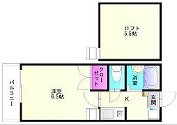エミネンス井尻[2階]の間取り